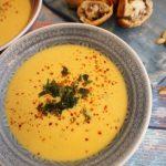 Thai Erdnuss Suppe mit asiatischer Laugenpraline 1