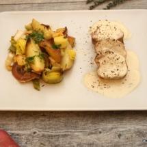Schweinefilet Kartoffel-Lauch-Apfel (