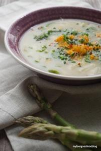 Basische Spargel Orangen Suppe